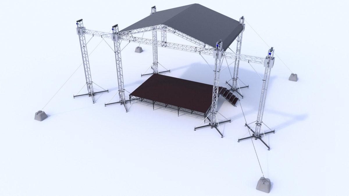 двускатные сценические комплексы